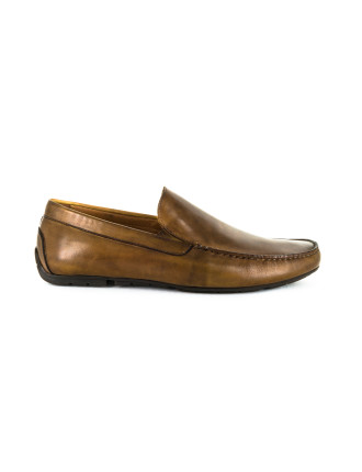 Crown Leather Driving Shoes