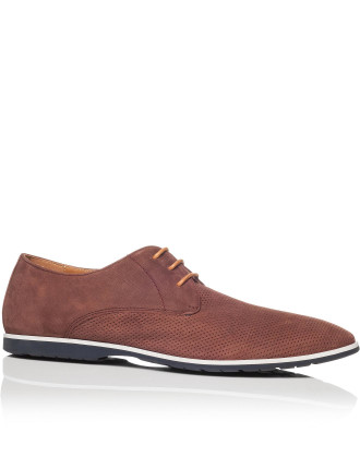Panama Casual Derby With Perforated Nubuck Vamp