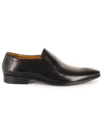Plain Vamp Side Gusset Slip On With Rubber Sole