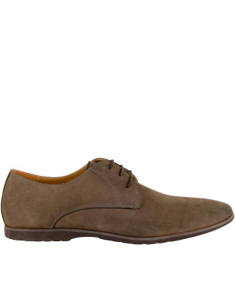 Horizon Plain Vamp Casual 3 Hole Derby