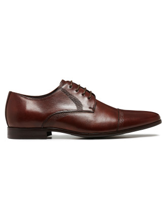 EXPAND RUBBER SOLE DERBY WITH CAP TOE