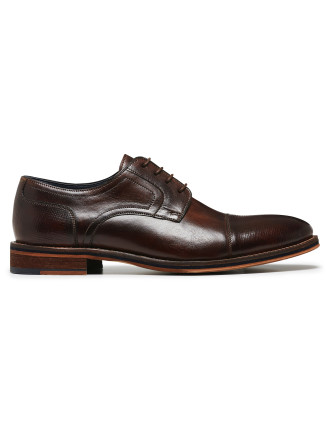 LEATHER TOE CAPPED DERBY