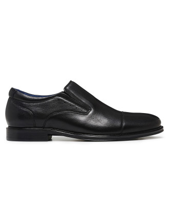 PUNCHED TOP CAPPED LOAFER