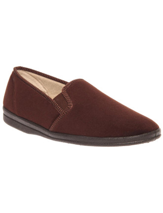 Percy Velour Side Gusset Mens Slipper