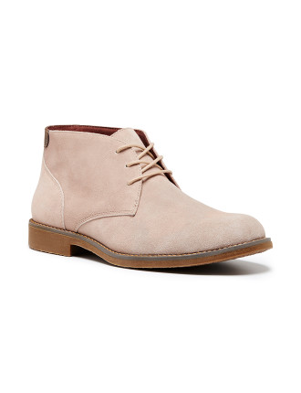 Terminal Perforated Suede Lace Up Desert Boot