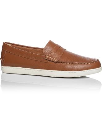 Pebbled Leather Slip On Sneaker
