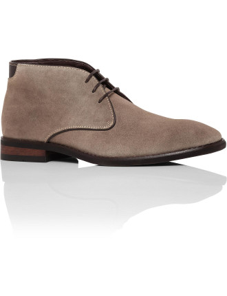 Suede Chukka Boot W/ Leather Trim
