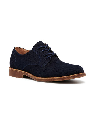 Token Perforated Suede Derby