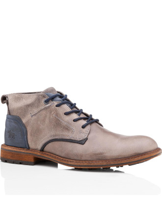Timba Mens Leather Dress/Casual Lace Up Boot