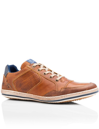 Crest Mens Leather Casual Lace Up Shoe