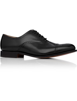 London Oxford W/ Brogue Detail And Cap Toe