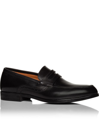 LAUSANNE BRUSHED CALF LEATHER LOAFER