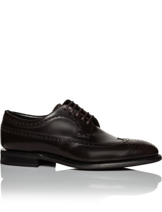 Portmore calf derby w/ wing tip brogue w/ rubber sole