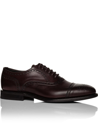 Panborough calf oxford semi brogue w/ rubber sole