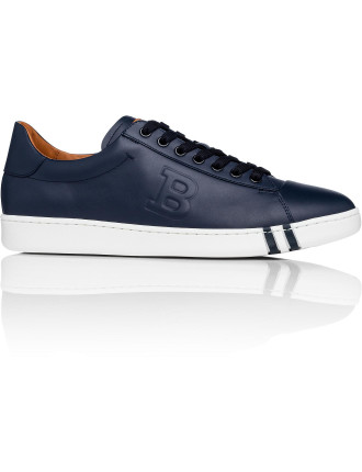 Wilson Leather Tennis Sneaker W/ Perforated Bally B