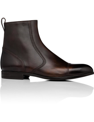 Lausanne Brushed Calf Leather Zip Boot