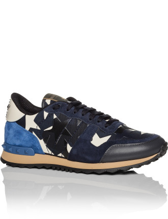 Camo Star Leather And Canvas Runner
