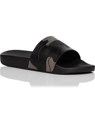 Leather Tonal Camo Sport Slide