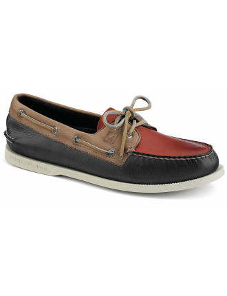 Three Tone A/O 2 Eye Classic Boat Shoe