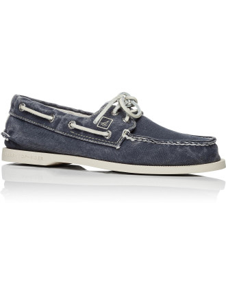 A/O 2 Eye Canvas Boat Shoe