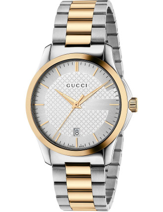 Medium G-Timeless With Steel And Gold Pvd Bracelet