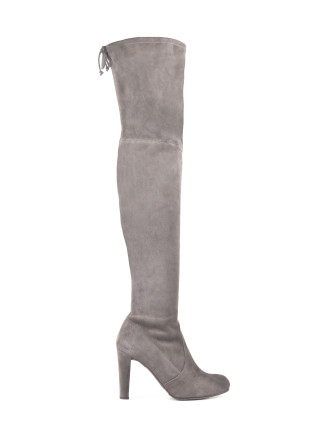 Highland Thigh High Boot With Back Tie