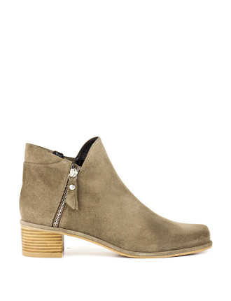 Zipdown Angular Ankle Boot