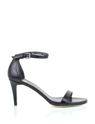 Nunaked Low Heel Ankle Strap Sandal