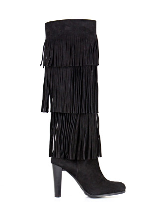Fringie Fringed Knee High Boot