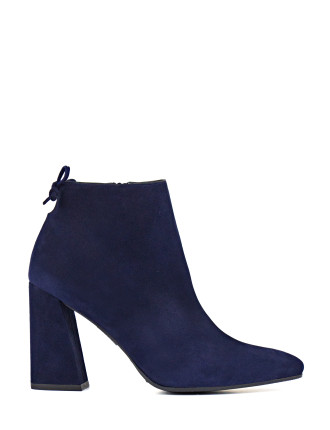 Grandiose Edgy Ankle Boot On A Angular Block Heel