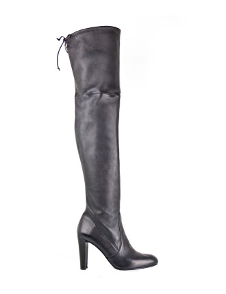 Highplonge Thigh High Boot With Back Tie