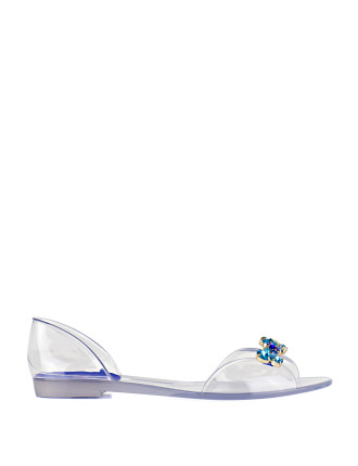 Juliebee Jelly D'Orsay Flat With Blue Stones