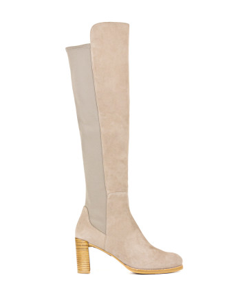 Lowjack Block Heeled Over The Knee Boot