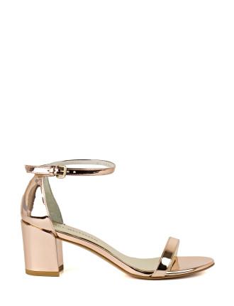 Simplemid Glitter Heeled Block Sandal