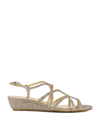 Turningdown Crossover Demi Wedge Sandal
