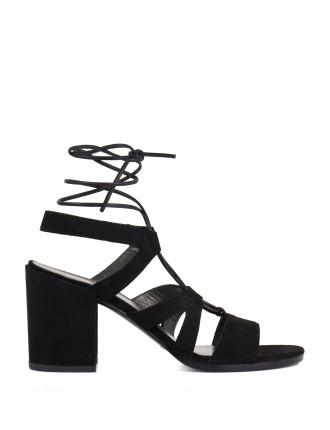 Tiegirlbingo Tie Up Block Heel Sandal
