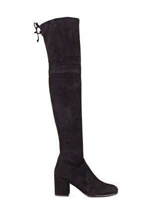 Tieland Block Heel Over The Knee Boot