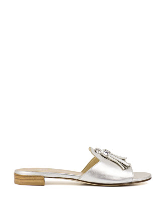 Twotassels Flat Open Toe Slide