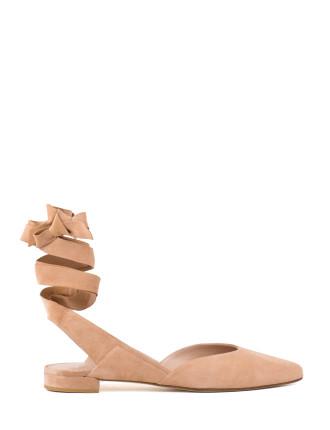 Supersonic Leg Tie Ballet Flat