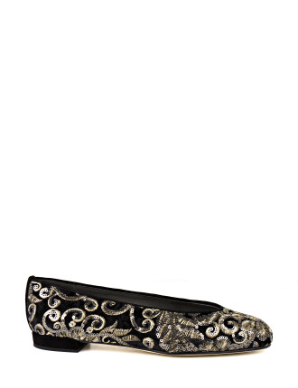 Pipechicflat Embroidered Modern Ballet Flat