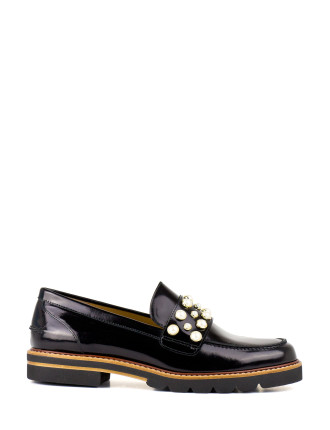 Mocpearl Pearl Embellished Loafer