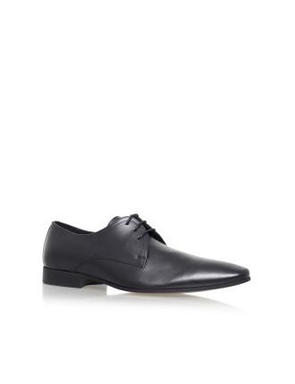 Santon Black Lace Up Shoe
