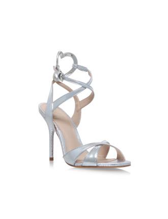 KG Kurt Geiger Jina Silver High Heel Sandals