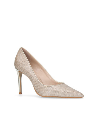 Carvela Alison Gold Mid Heel Court Shoes