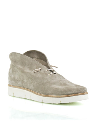 Yasmin Suede Ankle Boot On A Thick White Sole