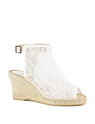 Kentucky Lace Espadrille Wedge