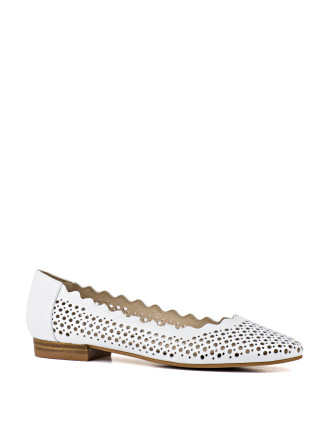 Evalina Perforated Ballet Flat