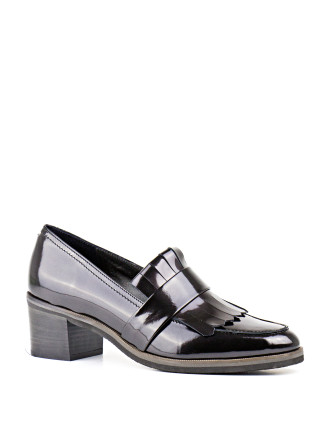Glaze Block Heel Loafer