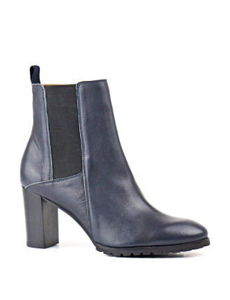 Uniquely Block Heeled Chelsea Boot