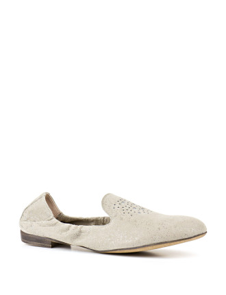 Gesture Flexible Loafer With Diamante Detail
